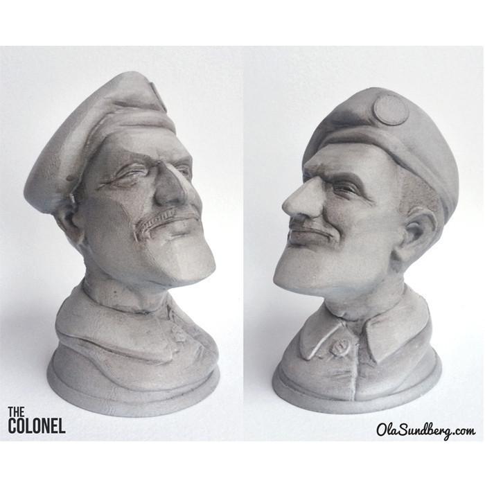 r2.jpg Télécharger fichier STL gratuit  The Colonel • Objet pour imprimante 3D, Sculptor