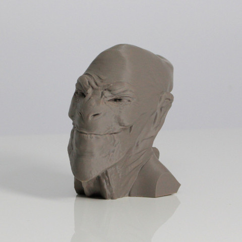 Download free 3D print files ACHFOS - Alien Creature Head From Outer Space, Sculptor