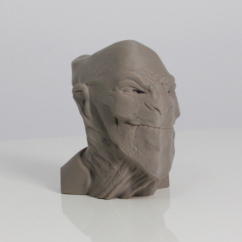 A2.jpg Download free STL file ACHFOS - Alien Creature Head From Outer Space • Template to 3D print, Sculptor