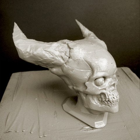 Free Hell Skull 3D printer file, Sculptor