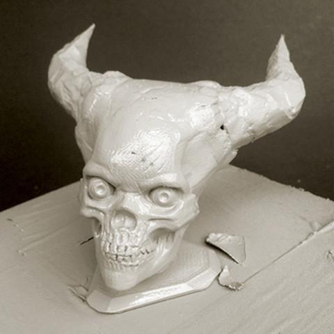 2.jpg Télécharger fichier STL gratuit Crâne de l'Enfer • Plan pour imprimante 3D, Sculptor