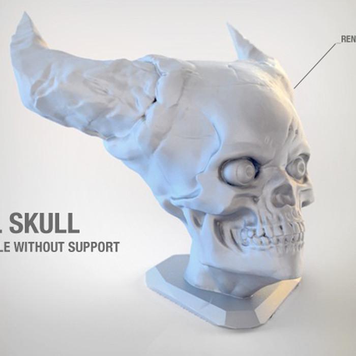 3.jpg Télécharger fichier STL gratuit Crâne de l'Enfer • Plan pour imprimante 3D, Sculptor