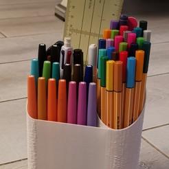 IMG_20200811_224435.jpg Télécharger fichier STL Pot a crayon dégradé • Plan imprimable en 3D, SmartBlug