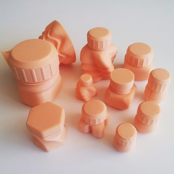 Download 3D printing designs Bottles and Screw Caps, David_Mussaffi