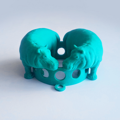 Free 3D printer file Hippos Medallion, David_Mussaffi
