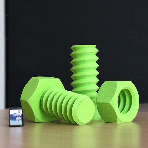 Free 3d print files Screw and Nut, Ysoft_be3D