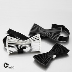 Free 3D printer designs Bow tie 01 - Flat, Ysoft_be3D