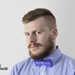 Free 3D printer file Bow tie 02 - wave, Ysoft_be3D