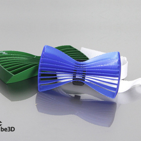 THINGIVERSE_BOWTIE_2_preview_featured.jpg Télécharger fichier STL gratuit Bow tie 02 - wave • Objet pour impression 3D, Ysoft_be3D