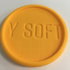 Free 3D print files Y Soft Coaster, Ysoft_be3D