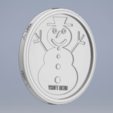 Free Y Soft Snowman and Xmas Tree Coaster STL file, Ysoft_be3D