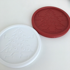 Free STL file Y Soft Snowman and Xmas Tree Coaster, Ysoft_be3D