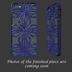 STL iPhone 5 cover- Fractal Design, sjenneman