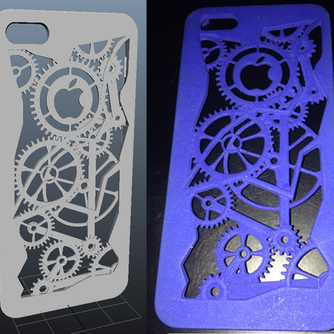 Download STL file iPhone 5 cover - gears • 3D print template, sjenneman