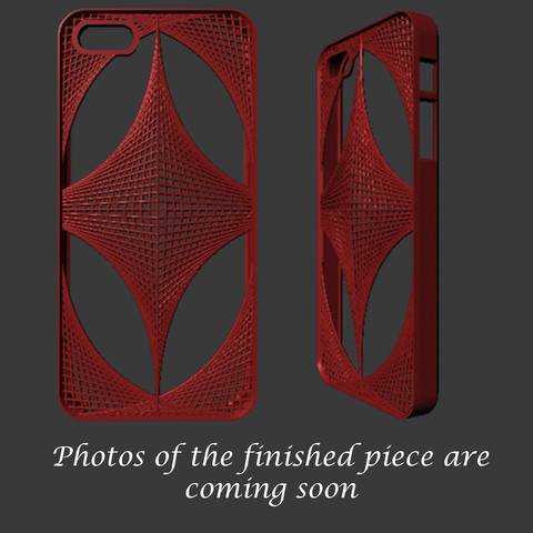 iphoneThatch.jpg Download STL file iPhone 5 Cover- Mathematical • 3D printing model, sjenneman