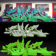 3D printer file Street Art SONE, 3D printed graffiti, NormallyBen