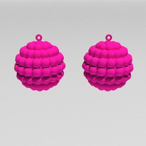 STL file Oval Shapes Earrings - White Pink, fredy