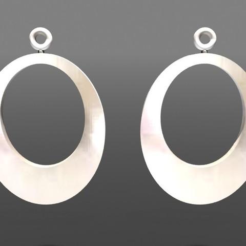 3D printing model Earrings Hollow rings, fredy