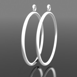 Boucles d'oreilles créoles - Blanc.jpg Télécharger fichier STL Boucles d'oreilles Anneaux • Design à imprimer en 3D, fredy