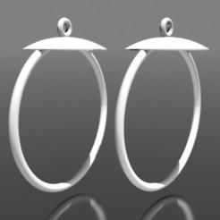Boucles d'oreilles créoles.jpg Télécharger fichier STL Boucles d'oreilles créoles • Plan à imprimer en 3D, fredy