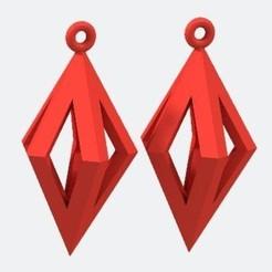 Boucles d'oreilles - Rouge..JPG Télécharger fichier STL Boucles d'oreilles • Design à imprimer en 3D, fredy