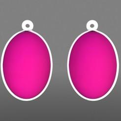 Boucles d'oreilles Formes Ovales - Rose Blanc.jpg Télécharger fichier STL Boucles d'oreilles Formes Ovales • Objet pour imprimante 3D, fredy