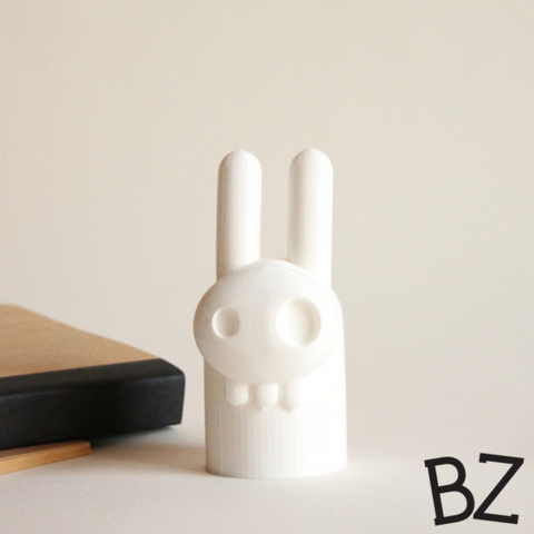 Free Elvis Bunny Skull 3D model, BulbZone