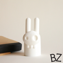 Free 3D printer model Elvis Bunny Skull, BulbZone