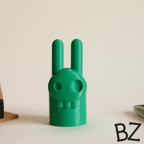 Capture_d__cran_2015-01-23___14.19.50.png Download free STL file Elvis Bunny Skull • 3D printer design, BulbZone
