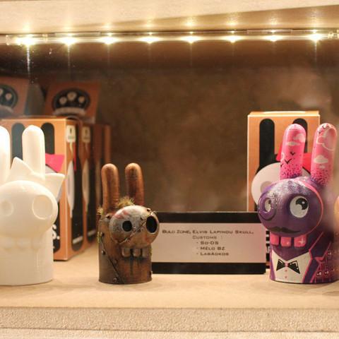 large_Elvis_and_Peggy_art_toy_Bulb_Zone.jpg Download free STL file Elvis Bunny Skull • 3D printer design, BulbZone