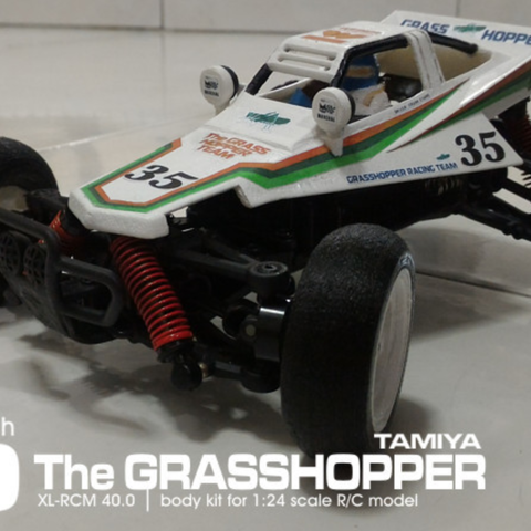 Télécharger modèle 3D gratuit TAMIYA GRASSHOPPER 1:24 kit d'échelle pour SUBOTECH, 3dxl