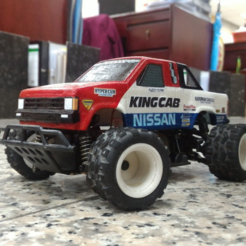 Download free 3D printing designs TAMIYA NISSAN KING CAB 1:24 scale kit for WL-Toys A212, 3dxl