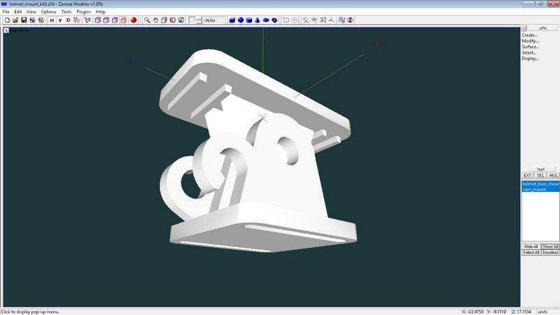 dd33226ad781fafa712b2a62780f9d46_display_large.jpg Télécharger fichier STL gratuit Mini kit de montage de caméra pour casque de vélo • Modèle pour impression 3D, 3dxl