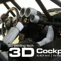 Free 3d printer designs Cockpit kit fpr RC vehicles and ground FPV models, 3dxl