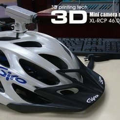 Free 3D print files Mini camera mounting kit for cycling helmet, 3dxl