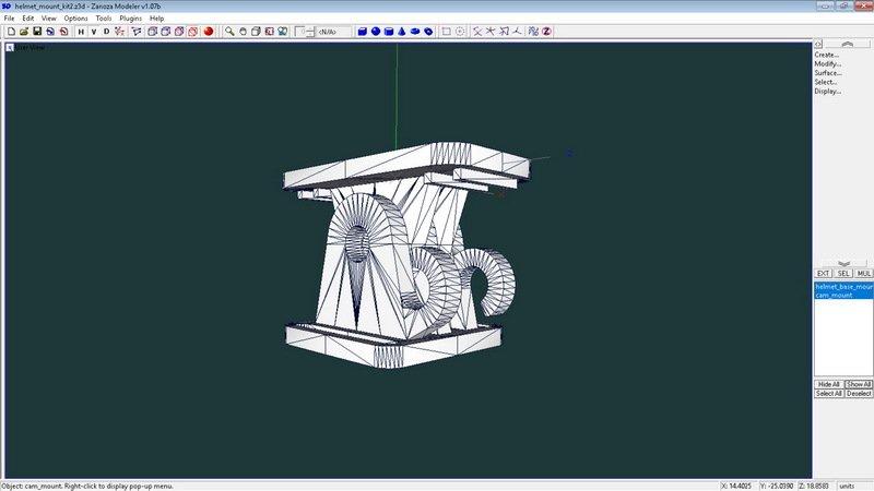 3d07adabe9d91f68dd0ecf1e9cc0c226_display_large.jpg Télécharger fichier STL gratuit Mini kit de montage de caméra pour casque de vélo • Modèle pour impression 3D, 3dxl