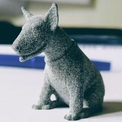 Download OBJ file Figurine dog bull terrier • 3D printer template, cat3dprint