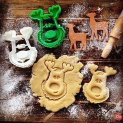 Download free 3D printing templates Rudolph the Reindeer Cookie Cutter, OogiMe