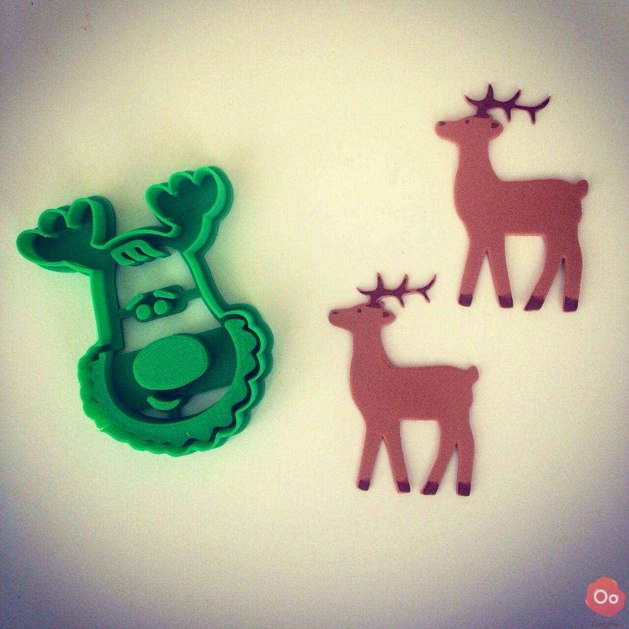 Rudolph_the_Reindeer_Cookie_Cutter1.jpg Télécharger fichier STL gratuit Emporte Pièce Rudolph le Renne • Objet à imprimer en 3D, OogiMe