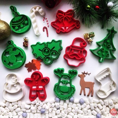 christmas_collection.jpg Télécharger fichier STL gratuit Emporte Pièce Rudolph le Renne • Objet à imprimer en 3D, OogiMe