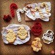 Objet 3D gratuit Santa Clause Cookie Cutter, OogiMe