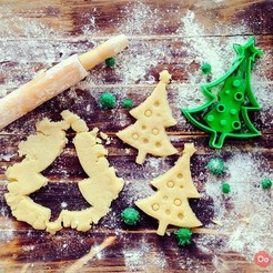 Download free 3D printer templates Christmas Tree Cookie Cutter, OogiMe