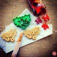 Mistletoe__Cookie_Cutter_2.jpg Download free STL file Mistletoe Cookie Cutter • 3D printing design, OogiMe