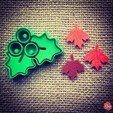 Mistletoe__Cookie_Cutter_1.jpg Download free STL file Mistletoe Cookie Cutter • 3D printing design, OogiMe