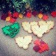 Free 3d printer designs Mistletoe Cookie Cutter, OogiMe