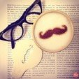 Free 3D printer files Santa's Mustache - Coffee Decoration Template, OogiMe
