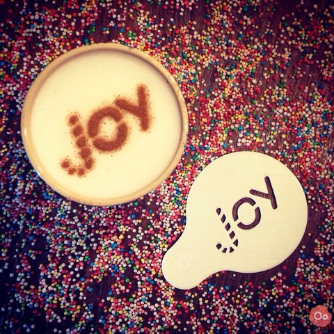 Free STL Joy - Coffee Decoration Template, OogiMe