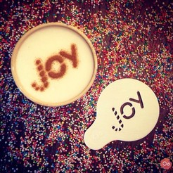 Download free 3D printer templates Joy - Coffee Decoration Template, OogiMe