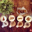 Free stl files Joy - Coffee Decoration Template, OogiMe