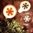 Free 3D file Snowflake - Coffee Decoration Template, OogiMe